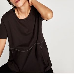 Zara Contrasting Poplin Shirt